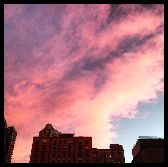 The hues of a New York Winter sunset in Chelsea.