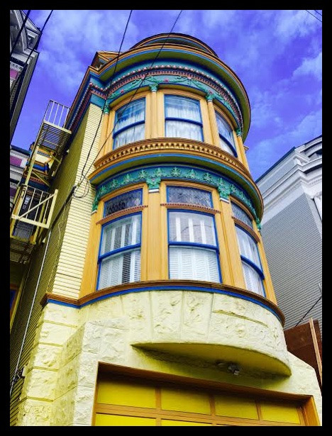 The bright colors of San Francisco architecture in my neighborhood.