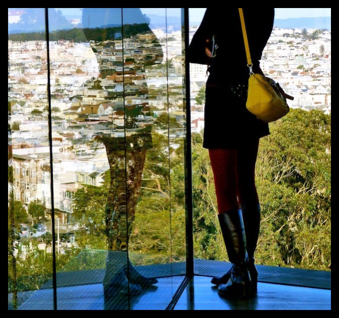 The San Francisco landscape from the De Young Museum's Hamon Tower Observation.