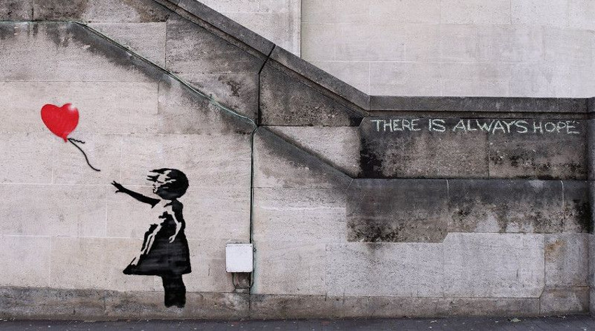 """There is Always Hope"" by Banksy"
