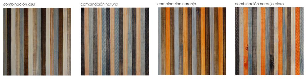 Imagen 2. Combinaciones de Colores Standard.