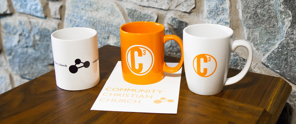 CCC standard logo and alternate logo Mugs and thank you cards.