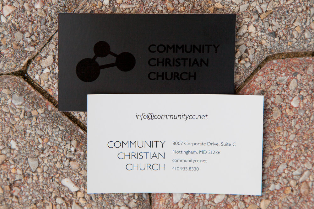 Black/black business card sides A & B