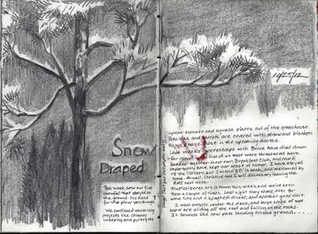 10/15/12 Our first look at Winter (Unfortunately, the marker on the following page bled onto this one.)