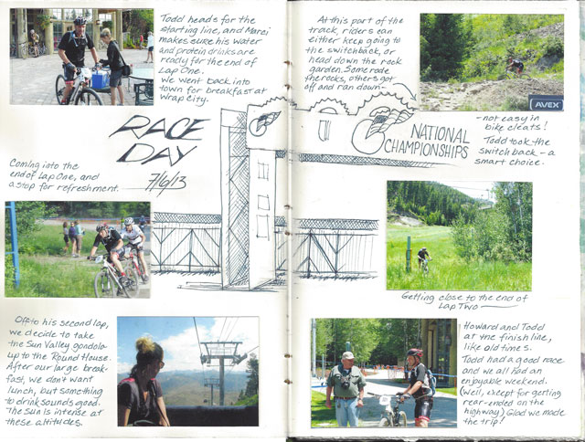 Howard's son Todd's mountain bike race.