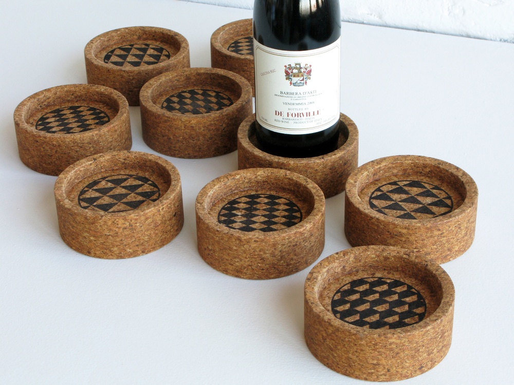 Plateau wine coasters - 2012