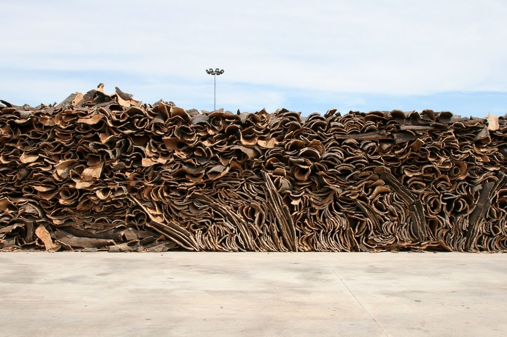 Stack of Cork Bark, Coruche, Portugal, 2011.