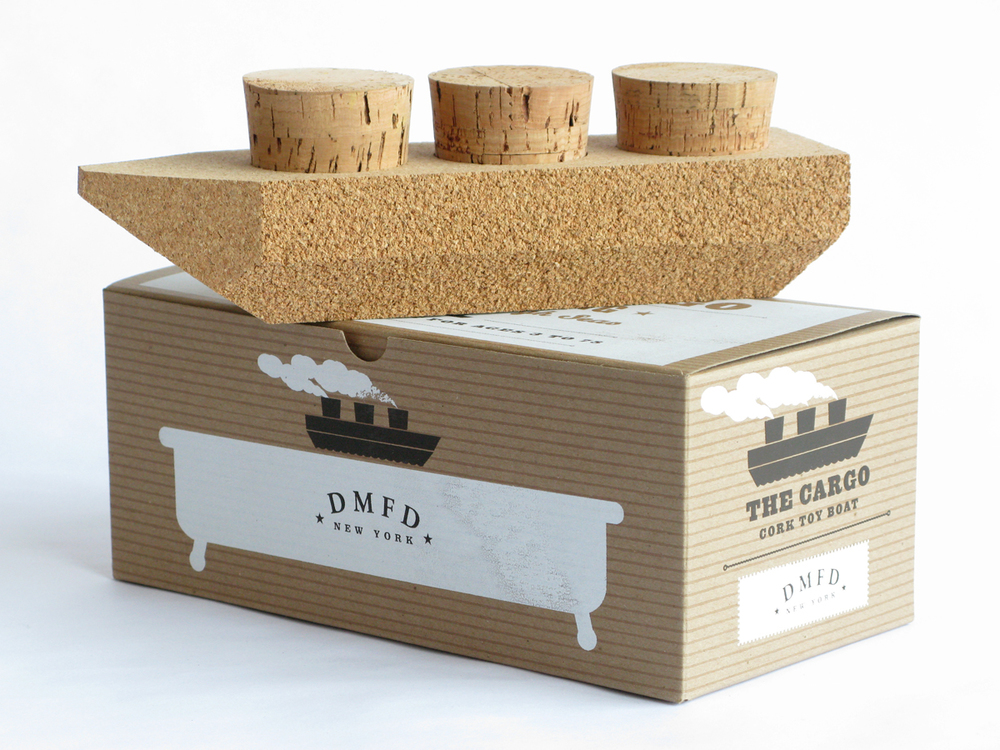 Cork Bath Toy - Cargo Ship