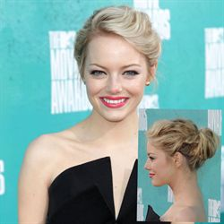 Emma Stone, Twisted up-do, step by step