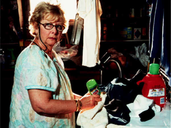 Carol Kramer as Grandma Gloria on set in Long Island, NY.