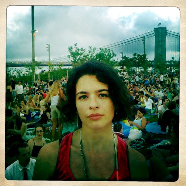 "Co-writer/director Jessica Sue Burstein at the Brooklyn Bridge Park screening of ""Abbie Cancelled""."