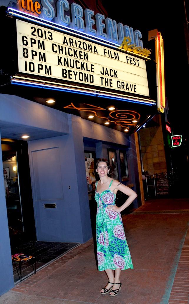 Jessica Sue Burstein at CHICKEN premiere in Tucson, AZ.