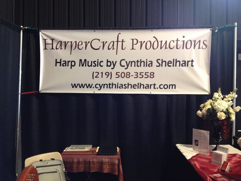 My booth & banner at the 2012 NWI Bridal Expo.