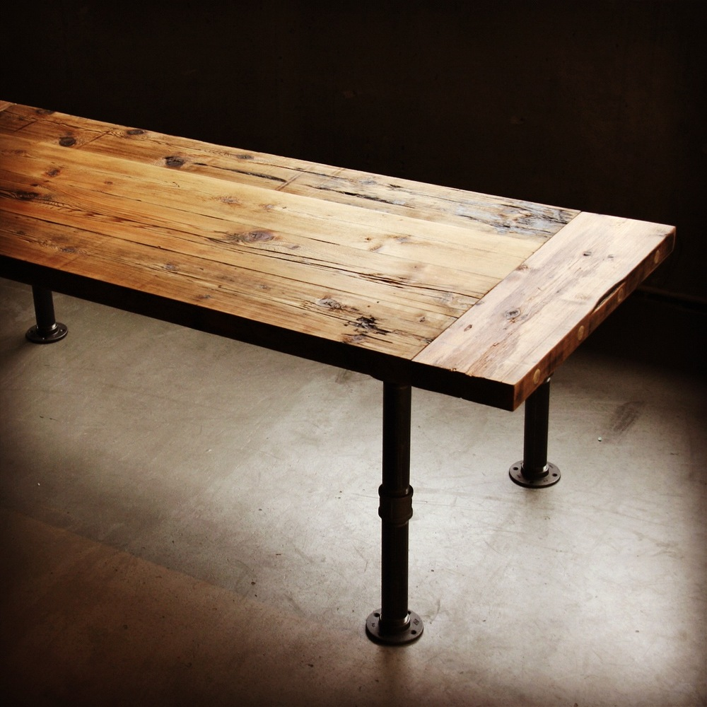 Industrial Coffee Table Vancouver: West Coast Wood & Iron