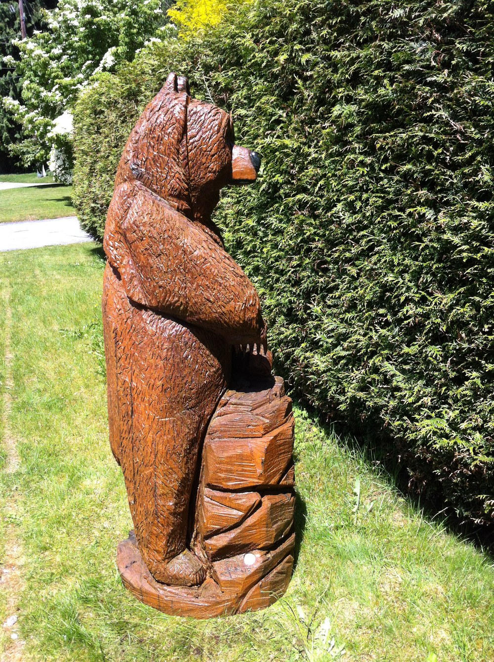 Sculptures chainsaw carvings — west coast wood iron