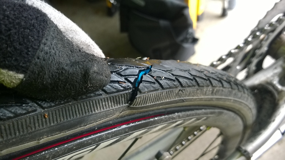 "1.5"" slice in my rear tire!"