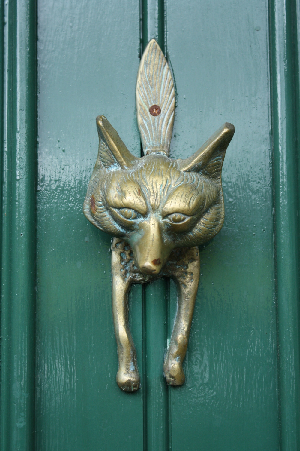 fox door knocker on Ballynahinch Castle