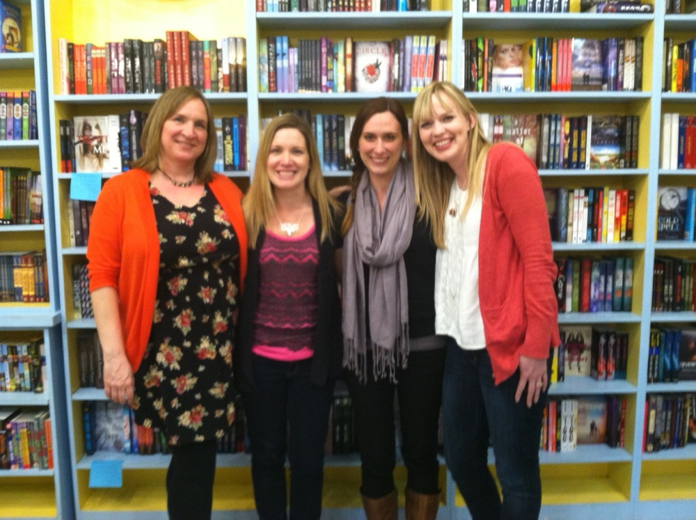 Authors Robin Constantine, Megan Miranda, Megan Shepherd, Kasie West at Little Shop of Stories in Decatur GA