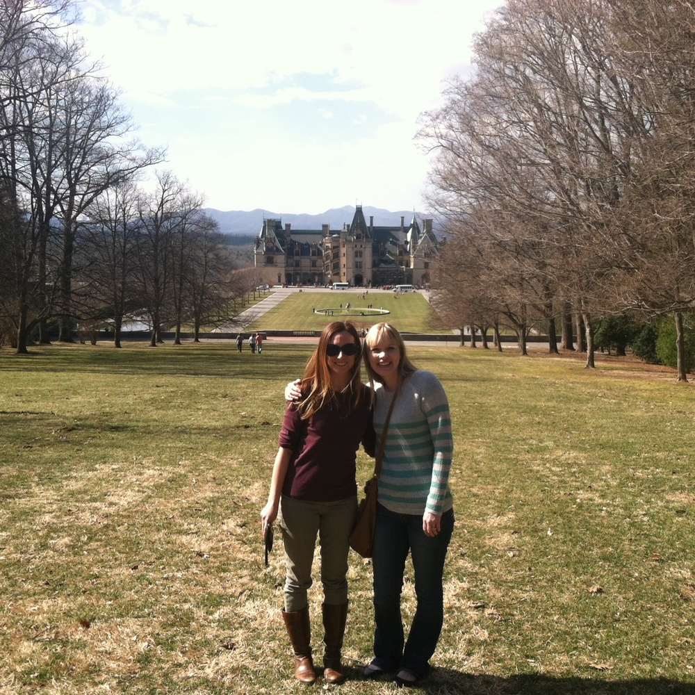 Megan Shepherd and Kasie West visiting Biltmore Estate in Asheville NC