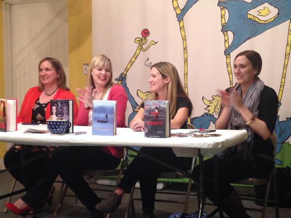 On the panel at Little Shop of Stories (photo credit: Sarah Brown @BreaktheBind)