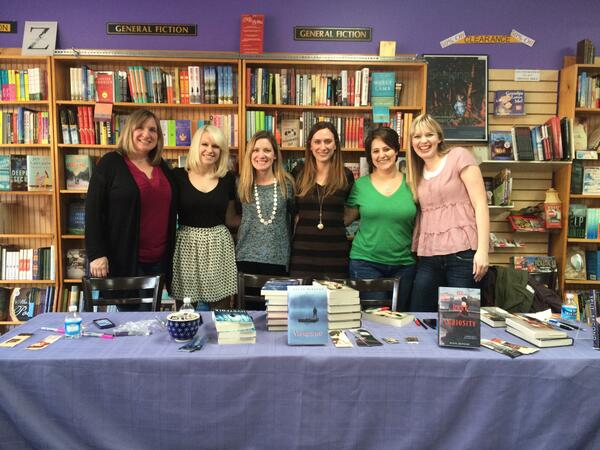 Authors at Fiction Addiction with readers (photo credit: Jessica Lee @jesseratops)