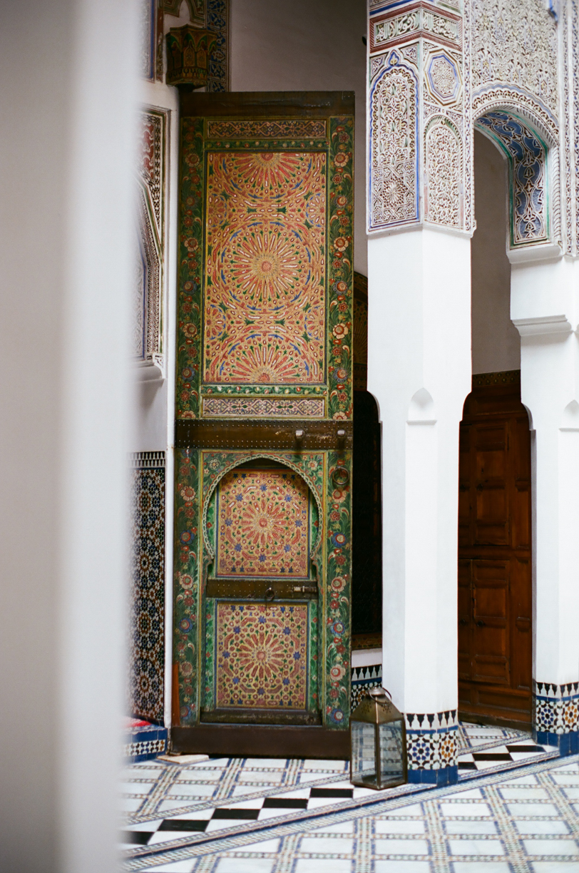 Door at Dar Saffarine_Tiled Floor and Pillars_Fez_web.jpg