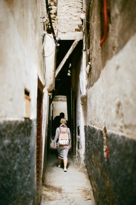 Allison Walking in Narrow Alley in Fez Medina 01_web.jpg