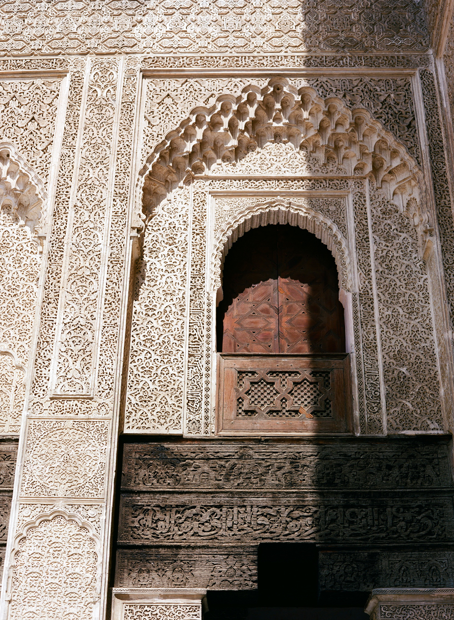 Shadow and Wooden Archway Inside Mederssa El Bouanania_Fez Medina_web.jpg