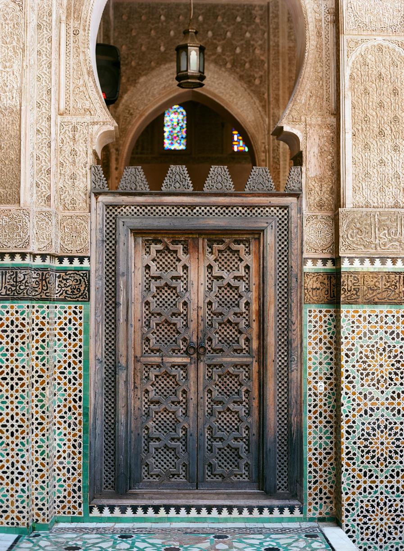 Wooden Door Inside Mederssa El Bouanania_Fez Medina_web.jpg