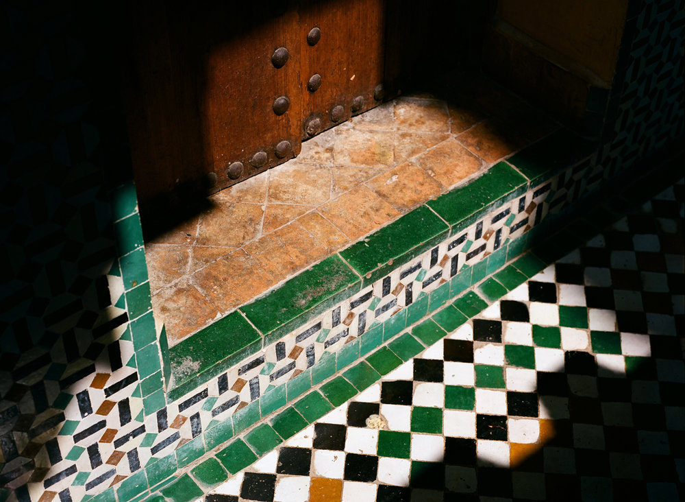Green Tile Floor and Ledge to Doorway_Mederssa El Bouanania_Fez Medina_web.jpg