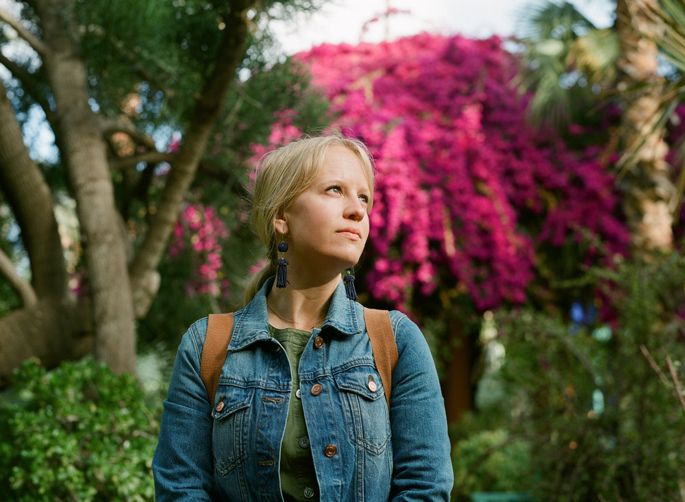 Allison Looking Up with Bougainvilleas at Jardin Majorelle_web.jpg