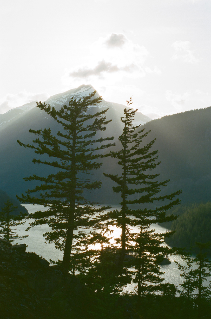Sun over Cascades and Trees with Diablo Lake_Dusk_web.jpg