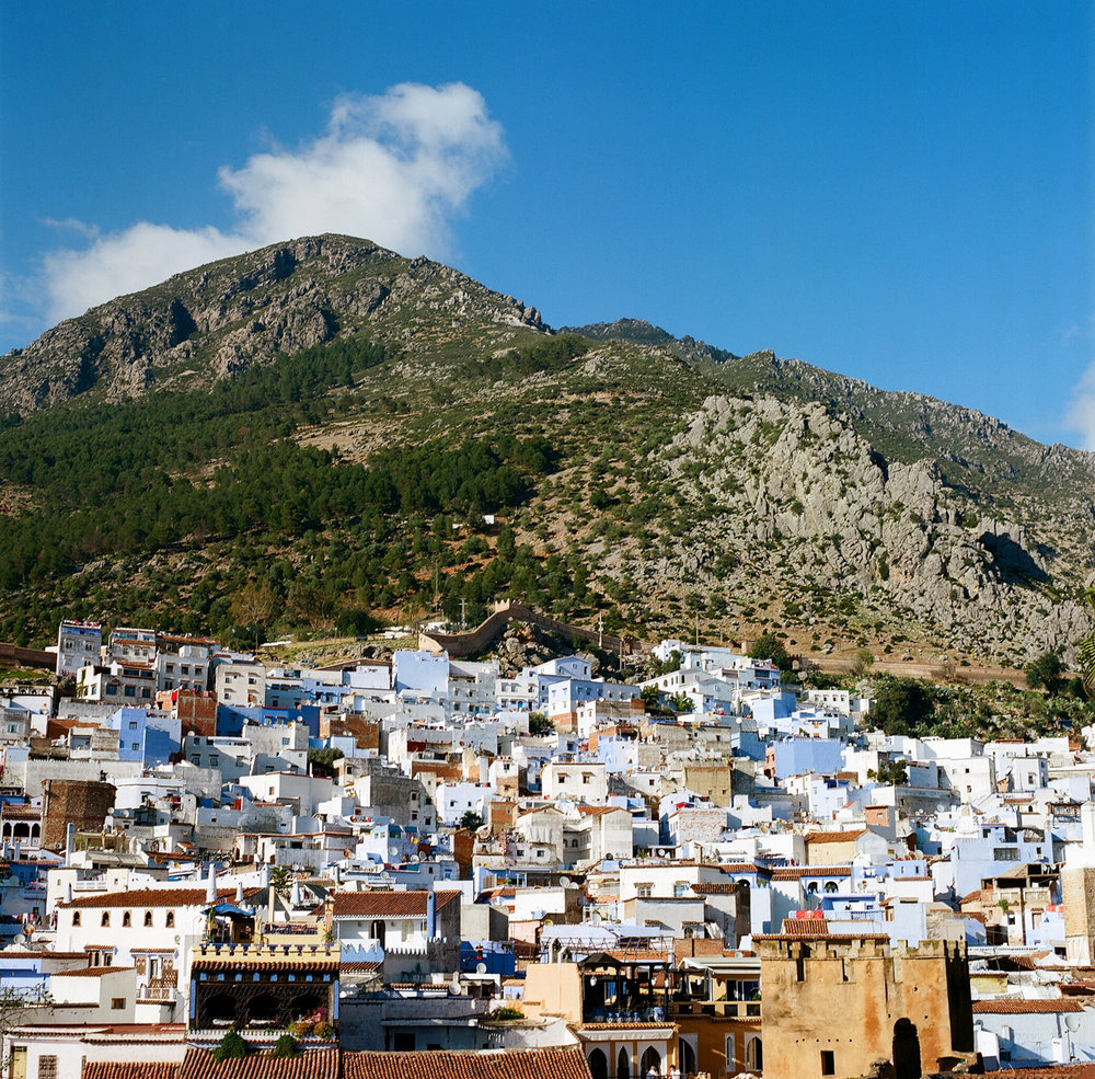 Chefchaouen Buildings in Medina and Mountain Top_web.jpg
