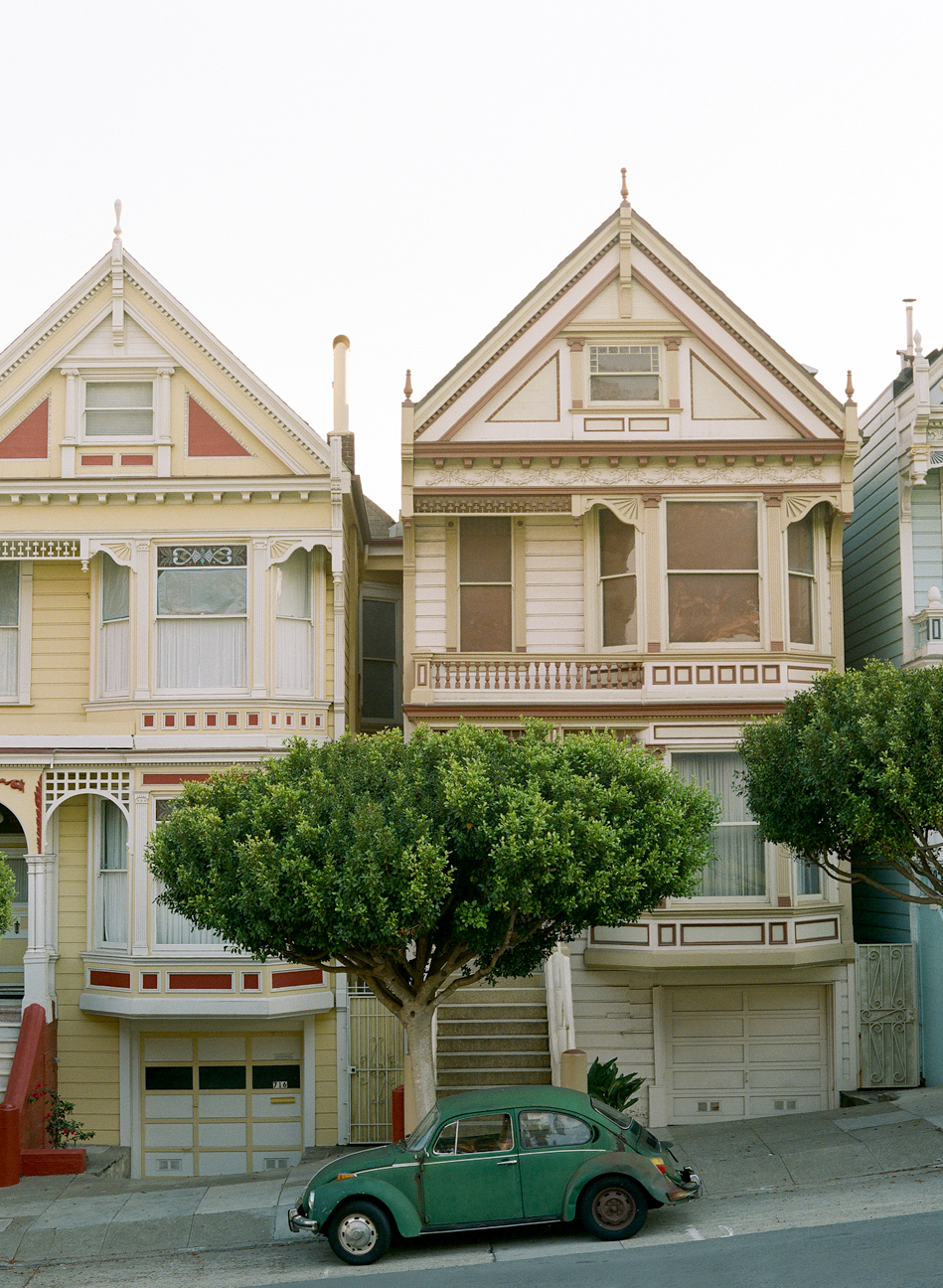 Vertical Painted Ladies and Beat Up Rusted Green VW Bug_web.jpg