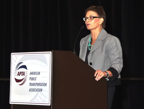(FTA Deputy Administrator Therese McMillan, photo courtesy Pat Ryan, Business Visuals)