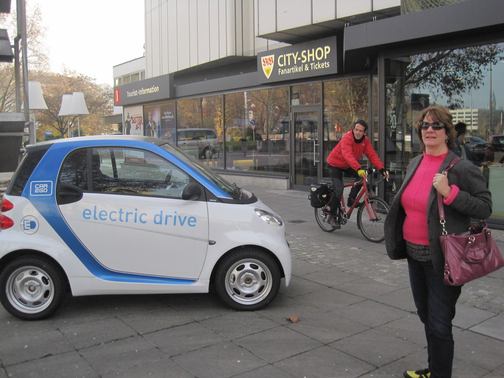 Car2Go premieres in Stuttgart, Germany where Daimler is headquartered.   (photo: roger skalbeck)