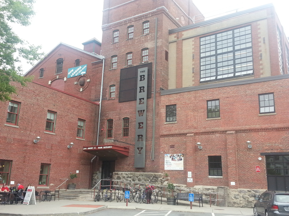 The Brewery in Boston's Jamaica Plains Neighborhood is an amazing example of hard-fought long-term work by the local CDC to transform a neighborhood liability into a community center employing over 500 people and supporting dozens of small businesses. CDBG funds were critical to its success. (Photo: MZimmerman 2013)