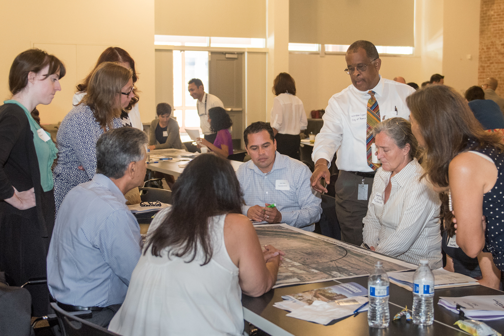 Community stakeholders envisioning development opportunities and needs in South Central and South Phoenix at July eTOD workshop (Photo: LISC - Phoenix)