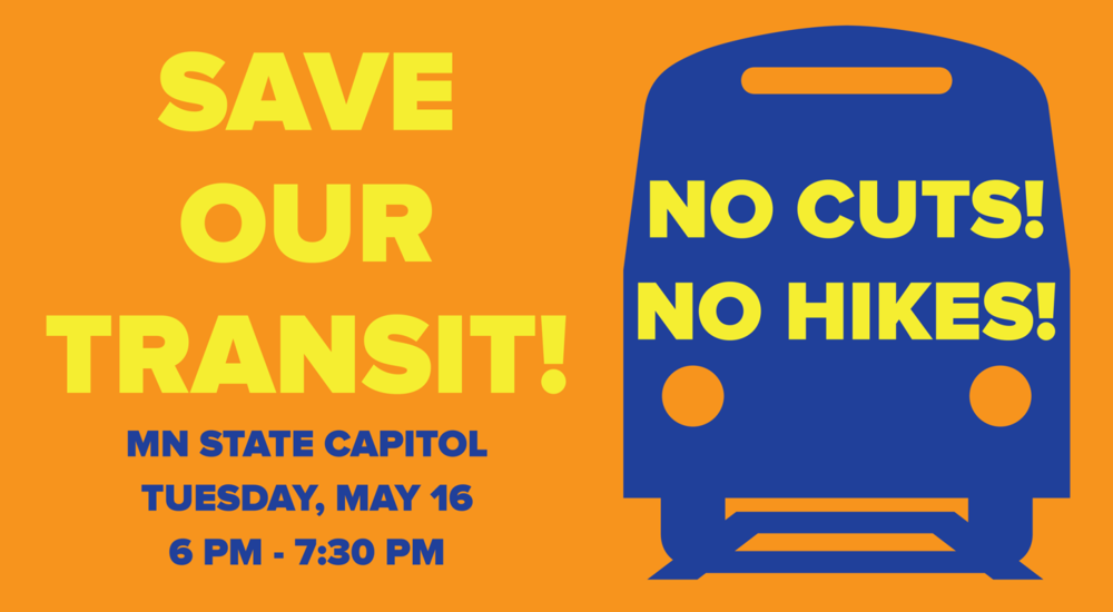 Groups are rallying in Minnesota this week to save transit.