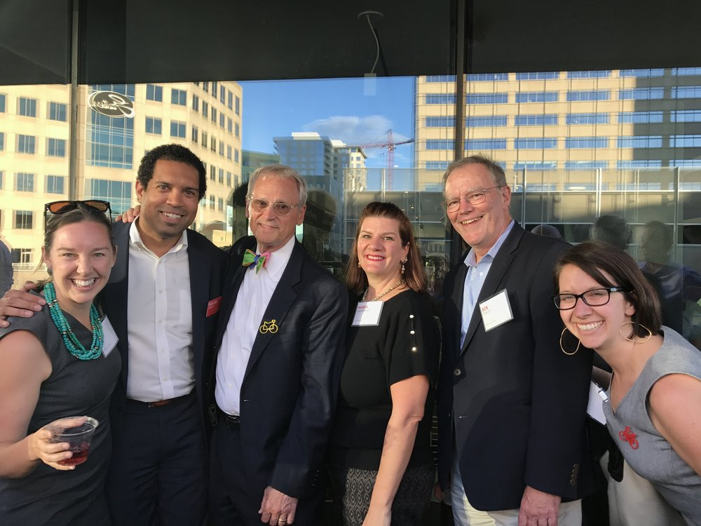 Reconnecting with Rep. Blumenauer and former colleagues at this year's Rail~Volution conference.
