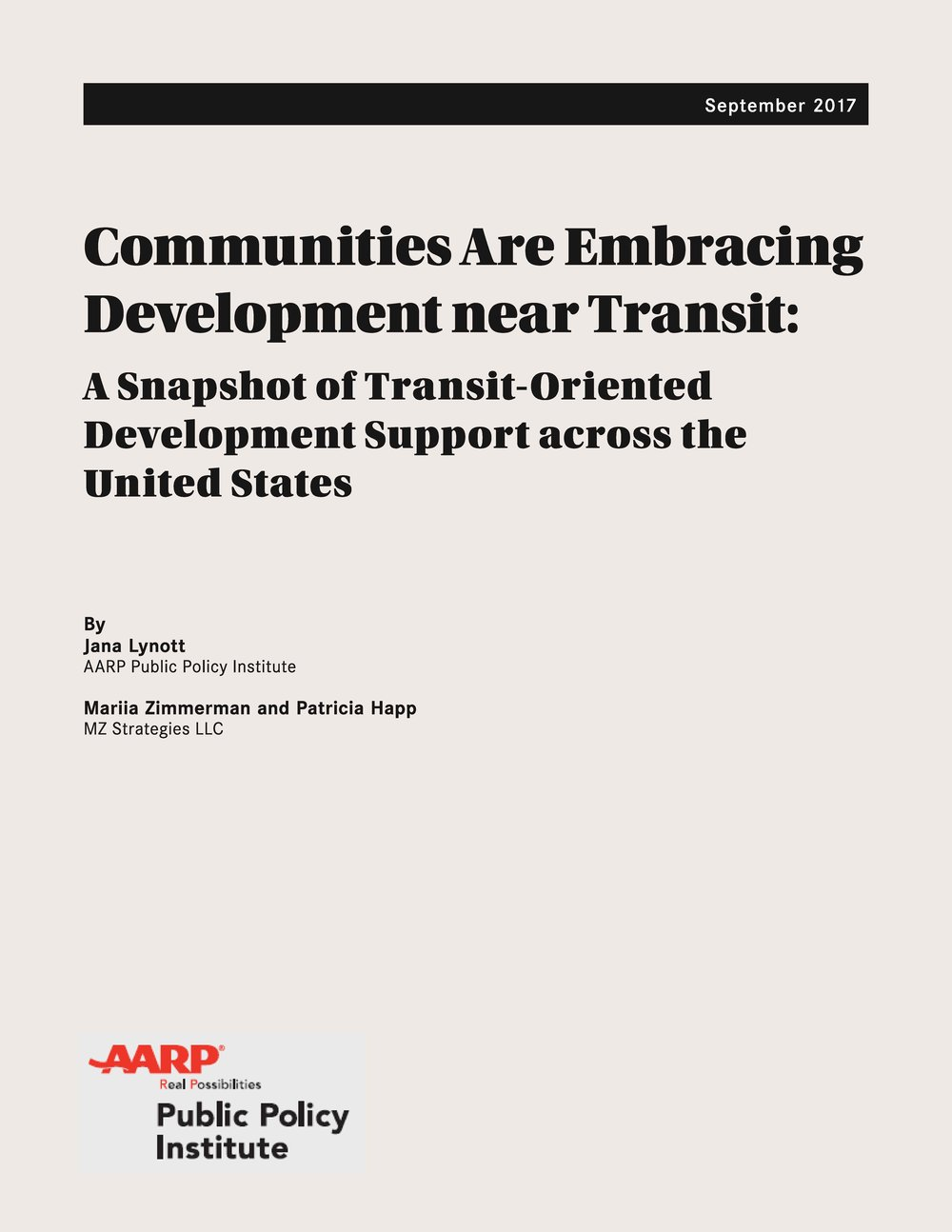 The report, and other TOD resources, are available for download at http://AARP.org/TOD