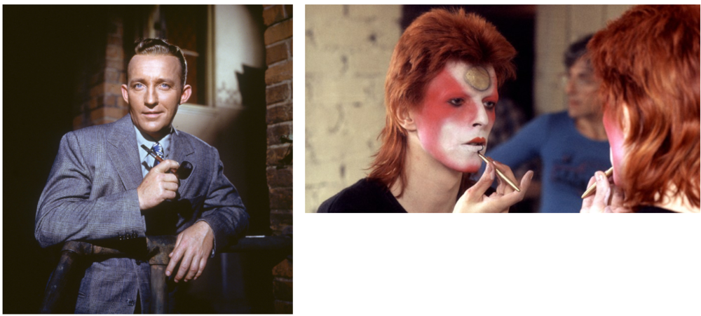 Bing Crosby and David Bowie were from different worlds.