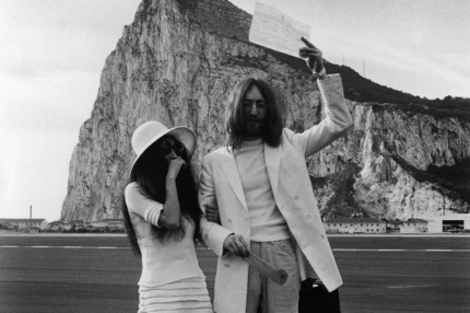 "John and Yoko get married in ""Gibraltar near Spain"""