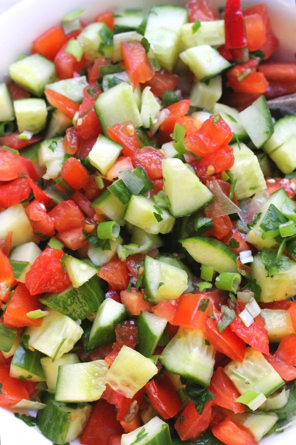 Tomato and cucumber salad - A ten minute recipe