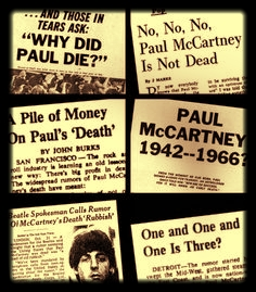 Fake News - In 1966 a story spread that Paul McCartney was dead.