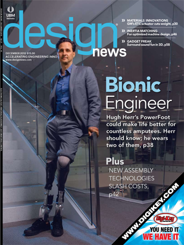 Design News Magazine - Hugh Herr