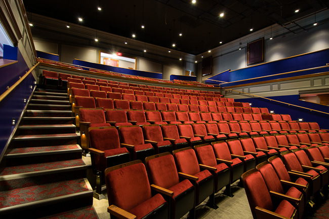 The beautiful new interior of Lowell's Merrimack Rep (MRT)