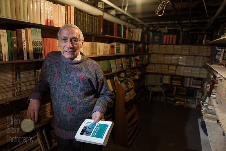 In the vault, where Roger keeps his rare book collection
