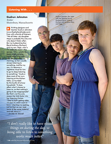 AudioFile Magazine - Gudrun Johnston, David Anthony Durham and Family