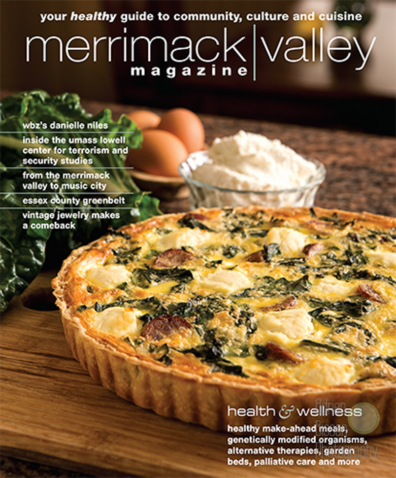 Photographing food is always a joy with a food stylist like Carolyn Grieco. Thank you for the cover Merrimack Valley Magazine!
